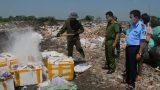 Nam Định : Tiêu hủy gần nửa tấn thực phẩm nội tạng động vật, hải sản tươi sống không rõ nguồn gốc