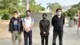 Bắt 4 đối tượng men theo bờ ruộng xuất cảnh trái phép sang Campuchia
