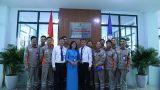 Gắn biển công trình Trung tâm Điều khiển xa Công ty Điện lực Nam Định