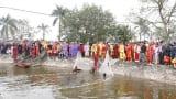 Ngày thứ 2 diễn ra Lễ khai Ấn đền Trần, Nam Định: Lễ rước nước, tế cá
