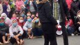 Nam Định: Hàng nghìn công nhân công ty giày da Nam Hà đình công