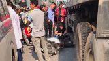 Thanh niên  Nam Định tử nạn dưới gầm xe container trên đường Hà Nội