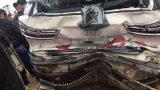 Nam Định: Xe khách đâm bẹp dúm hai ô tô con, một người nhập viện
