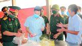 Các đồng chí lãnh đạo tỉnh đi kiểm tra công tác phòng, chống dịch bệnh COVID-19 tại các địa phương