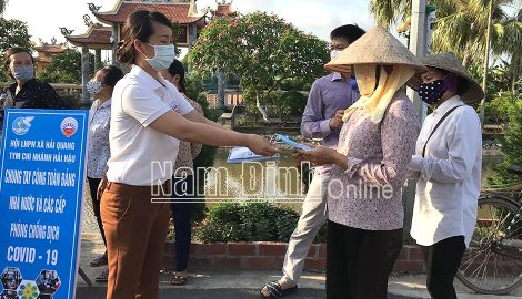 Nam Định : Hội Phụ nữ các cấp chung tay phòng, chống dịch COVID-19