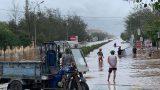 Nam Định: Nước biển dâng cao, nhiều nơi ngập sâu