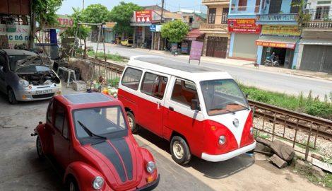 Cậu học sinh Nam Định chế ô tô chạy bằng năng lượng mặt trời chở được 12 người