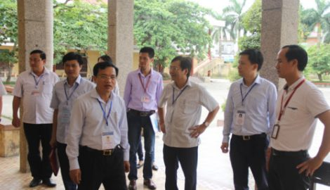 Kiểm tra công tác tổ chức thi THPT quốc gia tại Nam Định