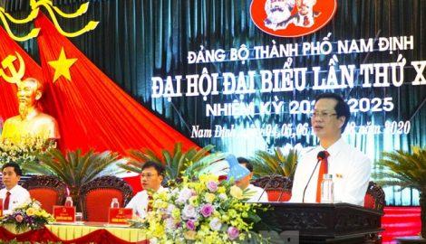 Ông Nguyễn Anh Tuấn được bầu làm Bí thư Thành uỷ Nam Định