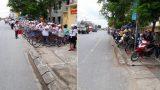Nam Định: Phụ huynh khiến dân tình xuýt xoa khi đỗ xe ngay ngắn kéo dài cả cây số chờ con, bất ngờ hơn là thái độ của học sinh