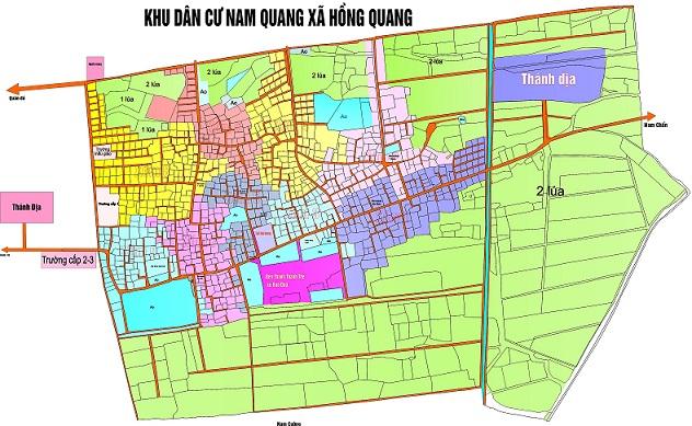 Bản đồ Làng Báo Đáp năm 2010
