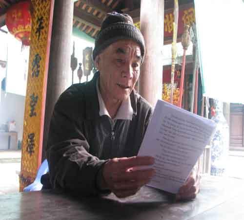 Ông Nguyễn Minh Nguyên, hậu duệ của Trạng Hiền.