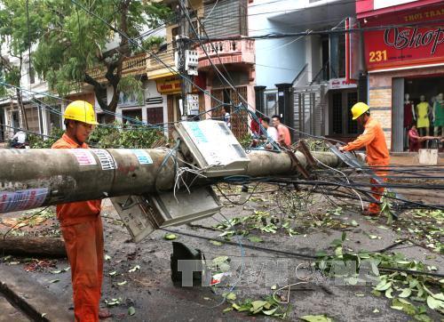 Nam Định là một trong các địa phương thiệt hại do bão số 1. Ảnh: Ngọc Hà/TTXVN