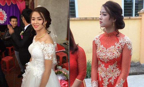 Ở góc chụp nào, cô dâu cũng khiến người nhìn ngẩn ngơ vì gương mặt hiền hậu, xinh đẹp.
