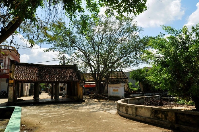 Vẻ đẹp thanh bình của làng tơ Cổ Chất - Ảnh: sưu tầm