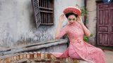 Nam Định: Ấn tượng hotgirl phẫu thuật thẩm mỹ trong bộ sưu tập áo dài cưới