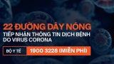 Có biểu hiện nghi nhiễm virus Corona thì gọi ngay cho 22 đường dây nóng của các bệnh viện này