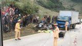 Hai ô tô tải đâm trực diện, 4 người thương vong