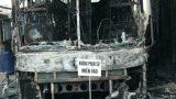 Nam Định: Xe giường nằm 40 chỗ bốc cháy rừng rực trong đêm