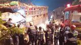 Nam Định: Hai xe tải đầu đầu, 4 người bị thương