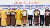 """Nam Định : Tiễn các tăng, ni """"cởi áo cà sa khoác áo blouse trắng lên đường phòng, chống dịch"""""""