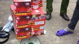 Bắt giữ thanh niên Ý Yên, Nam Định giấu 10 hộp pháo giàn trong cốp xe