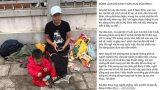 Hình ảnh chồng bế 2 con nhỏ từ Nam Định lên Hà Nội, lang thang tìm vợ bỏ nhà ra đi gây xôn xao MXH
