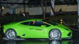 Đại gia Nam Định mang hẳn Lamborghini Huracan xanh cốm vào Sài Gòn ăn cưới Cường Đô la