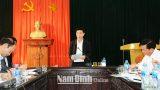 Đồng chí Chủ tịch Uỷ ban nhân dân tỉnh làm việc với huyện Ý Yên