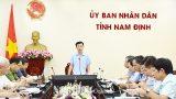 UBND tỉnh Nam Định chỉ đạo tiếp tục thực hiện nghiêm các biện pháp phòng, chống dịch bệnh COVID-19