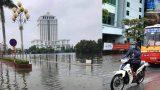 Mưa lớn gây ngập nhiều tuyến phố trên địa bàn thành phố Nam Định