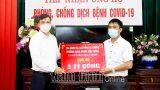 Nam Định : Tiếp nhận ủng hộ phòng, chống dịch COVID-19
