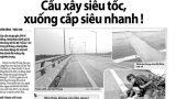 Trải thảm nhựa, hoàn trả kỹ thuật điểm sụt lún cầu Tân Phong