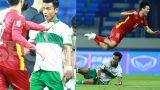 Duy Mạnh lao ra bảo vê Tuấn Anh Khi cầu thủ Indonesia sau pha phạm lỗi nguy hiểm với Tuấn Anh
