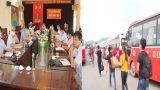 Huyện Giao Thủy triển khai kế hoạch đón người lao động từ Bắc Giang trở về địa phương.