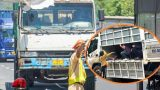 Tài xế chở hàng luồng xanh cho 10 người vào thùng xe tải về quê