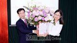 Nam Định: Nữ phó Ban Dân vận làm Giám đốc Sở Công thương